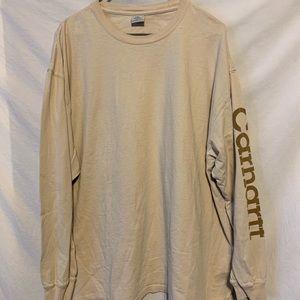 Carhartt Men 2XL Tan Long Sleeve Shirt 559a